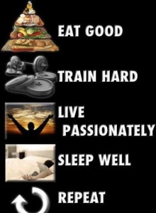 2. Eat-train-live-sleep-repeat