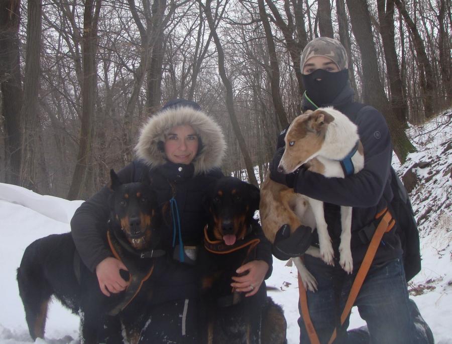 2015. január, -10°C, Mecsek: aláölti, polár, és mellény sínadrággal