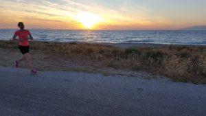 Nyaralás és futás a tengerparton