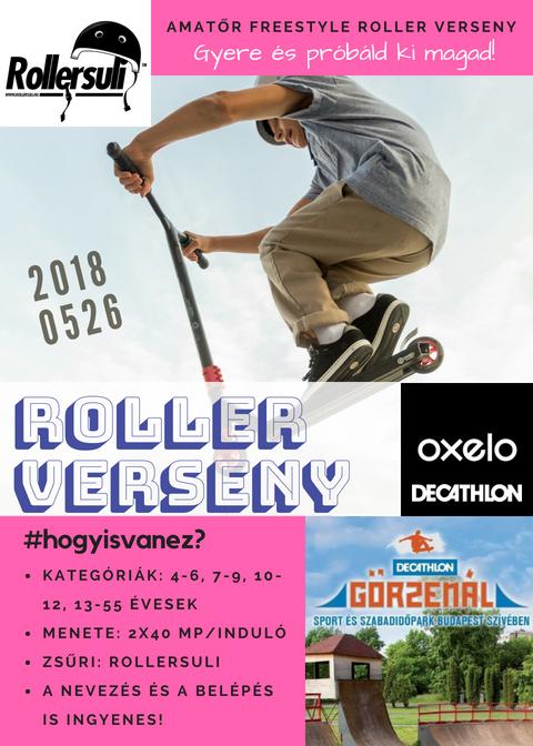 A freestyle roller verseny flyere