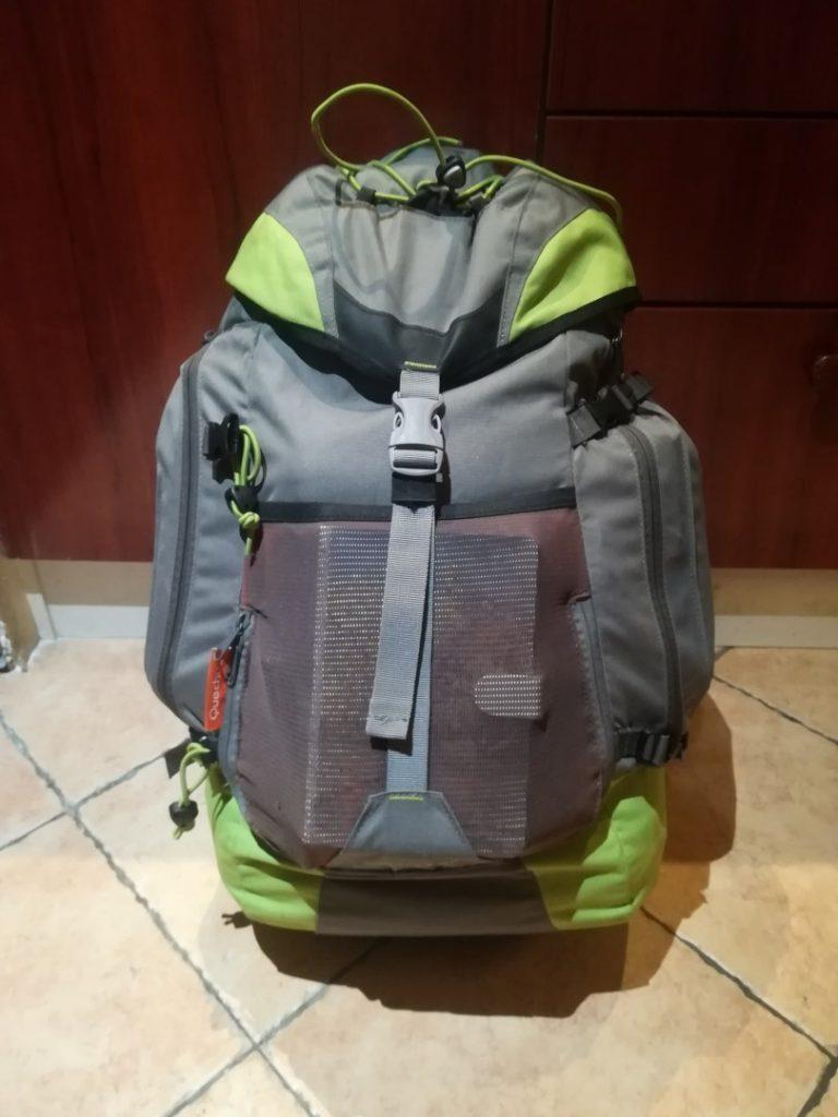 Hátizsákos utazás - 40 literes Quechua hátizsák