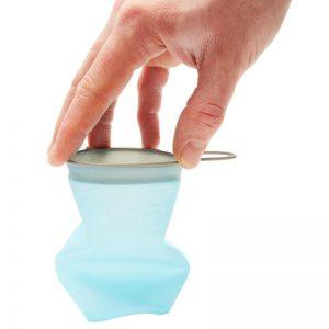 Az összenyomható pohár segítségével tudunk frissíteni több versenyen is